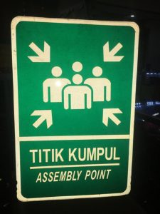 Safety Sign Assembly Point
